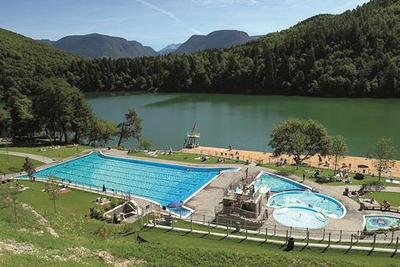 Pool at the large lake of Monticolo